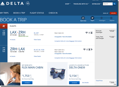 LAX-ZRH $567 DL Aug8-24