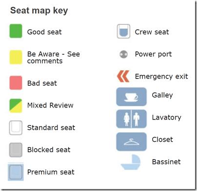 Seat guru seat map key