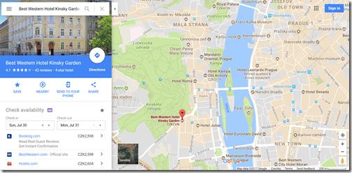 BW Kinsky Google Maps
