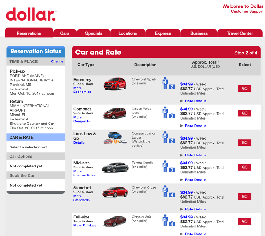 Dollar Rental Car Locations Florida : Print Discount