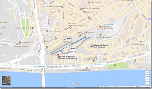 Google Maps Park Inn BTS