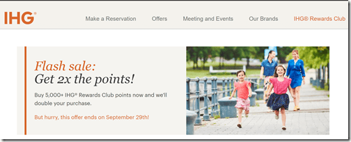 IHG Flash Sale Sep29