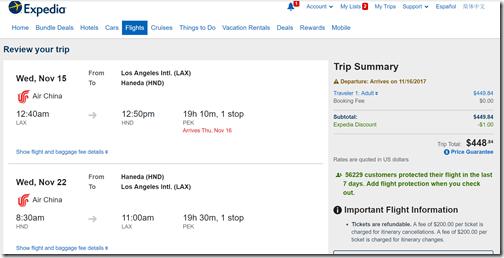 LAX-HND $449 Air China Nov15-22