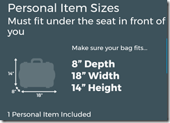 Frontier free carry on rules