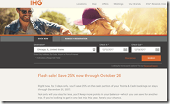 IHG P-C Flash Sale