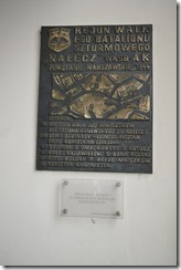 Warsaw Uprising plaque