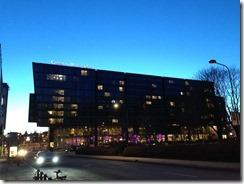 Clarion Hotel Sign dusk