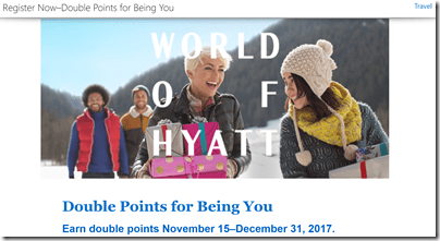 Hyatt double points Nov15-Dec31