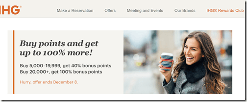 IHG 100% buy points bonus