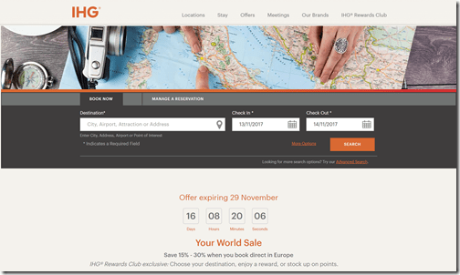 IHG Your World Sale