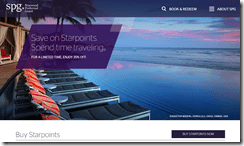 SPG Starpoints 35% off