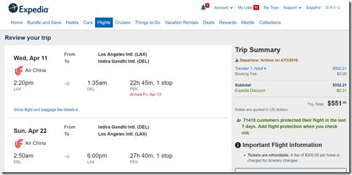 LAX-DEL $552 Air China Apr11-22