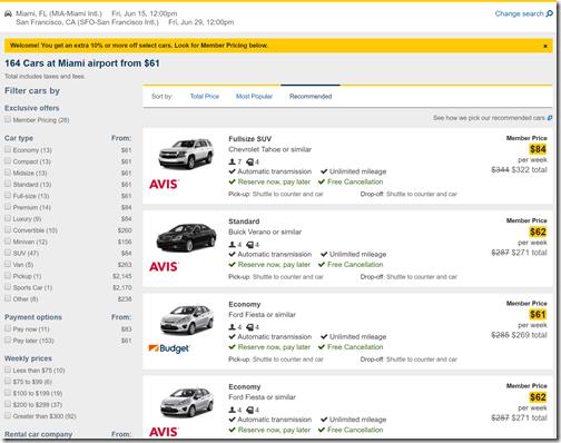 Mia Car Rental Deals