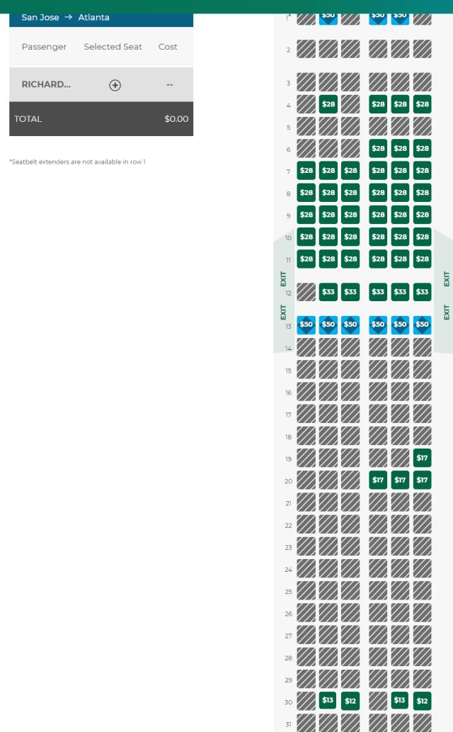 Frontier Seat Chart : frontier, chart, Frontier, Chart, Check-in, Loyalty, Traveler
