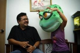 Froggie scares...