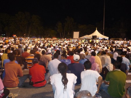 Crowd at Pakatan ceramah