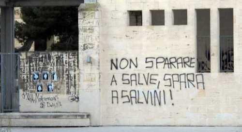 Scritta sui muri di Lecce. Fonte: Il Messaggero