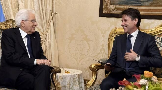 Conte e Mattarella durante le consultazioni
