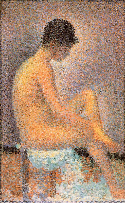 G.-P. Seurat, Modella seduta, di profilo (1887)