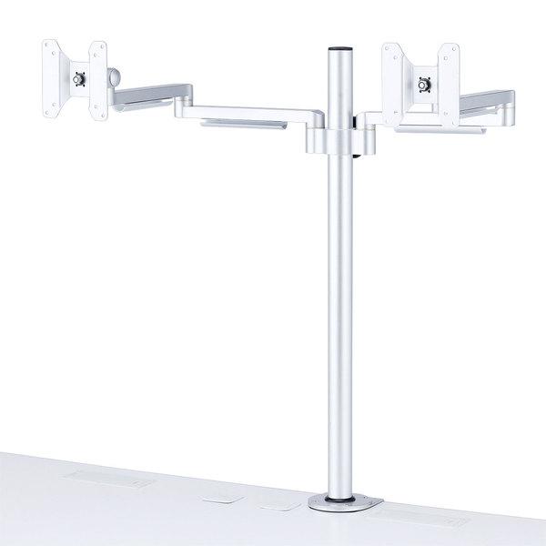 水平多関節液晶モニタアーム(H700mm・左右2面)商品画像