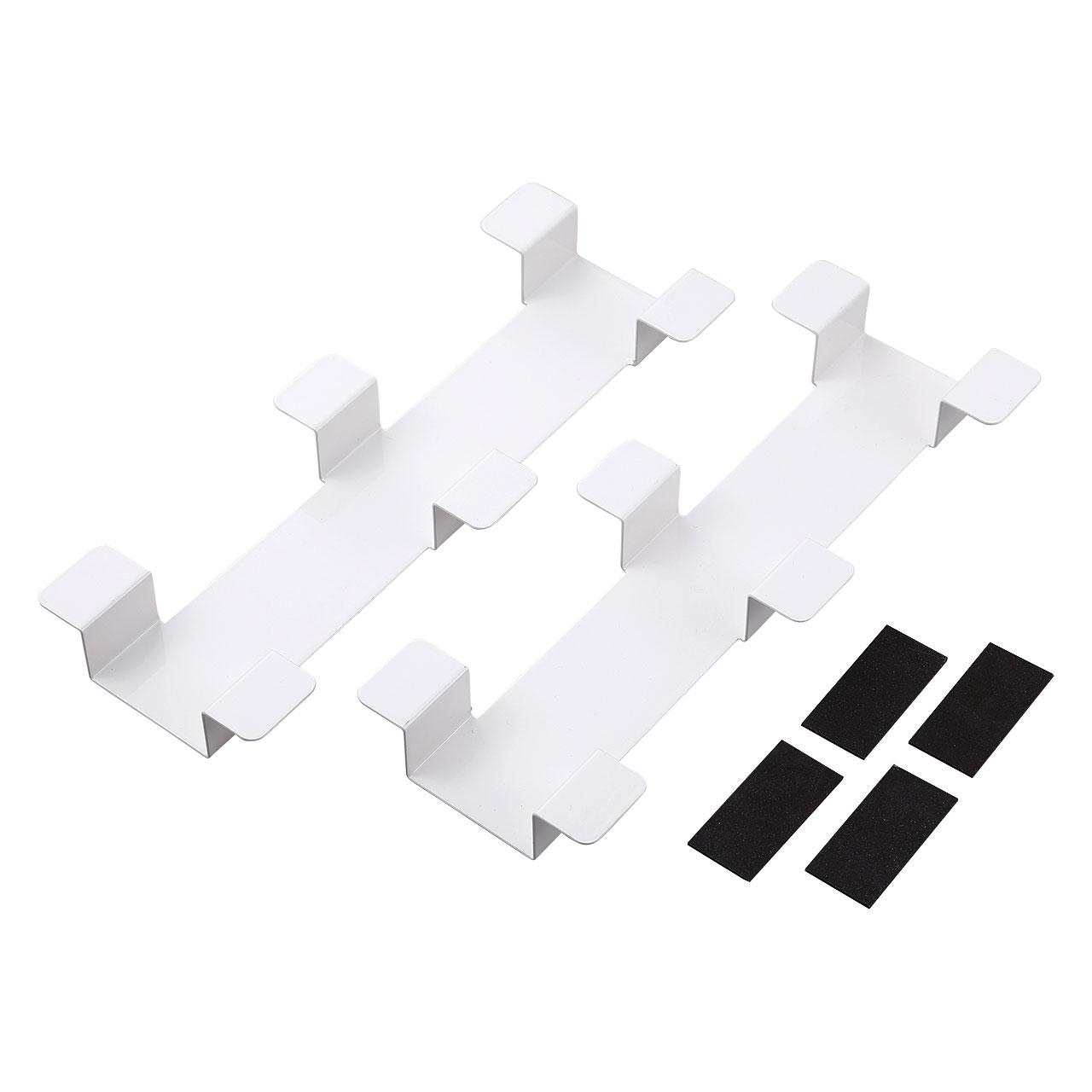 タブレット収納保管庫用ケーブルフックバー(2個セット・ホワイト)商品画像
