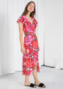 Pink Floral Maxi Dress & Other Stories