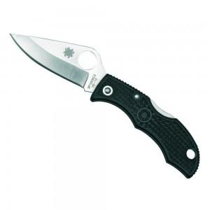 LBKP3 lp affutages mini couteau Spyderco Ladybug 3 lame lisse 4,9cm acier VG-10 manche 6,2cm nylon renforcé FRN noir