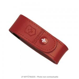 4_0520_1 LPAFFUTAGES étui Victorinox cuir rouge pour couteaux suisses 91 mm de 6 à 14 pièces