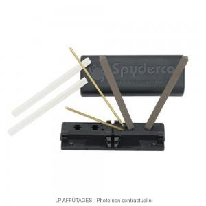 204MF Kit d'aiguisage Spyderco 2 barres céramique grain moyen et fin lpaffutages