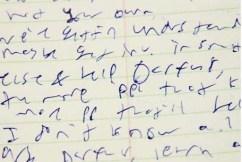 Cursive hand writing