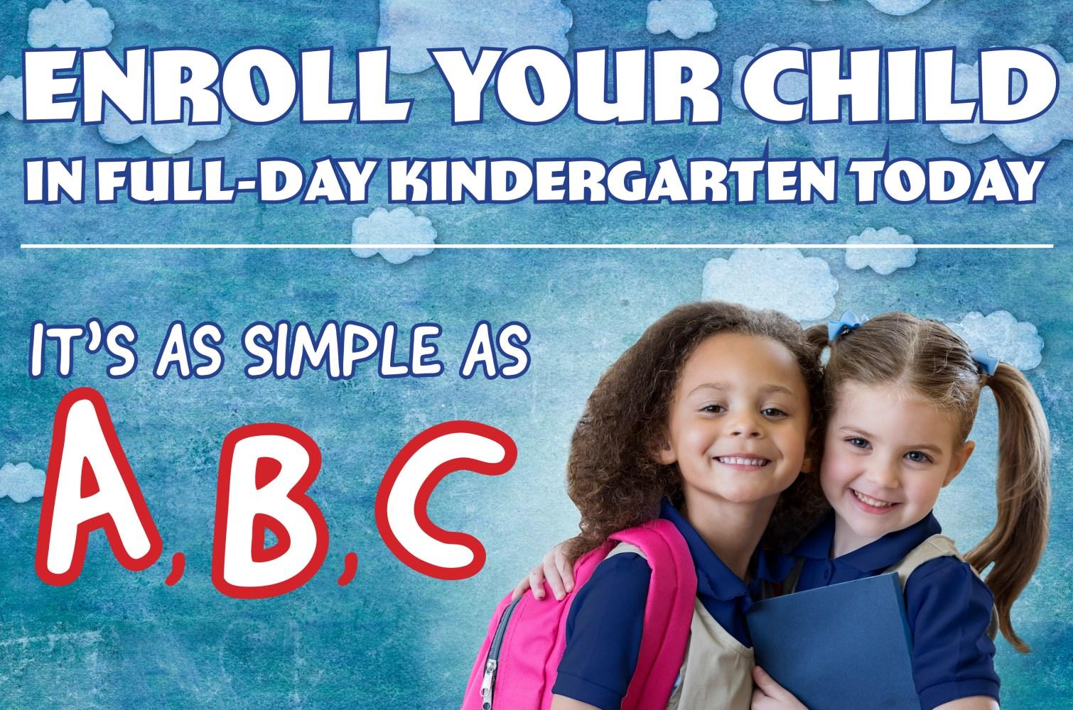 Enroll Your Child in Full-Day Kindergarten
