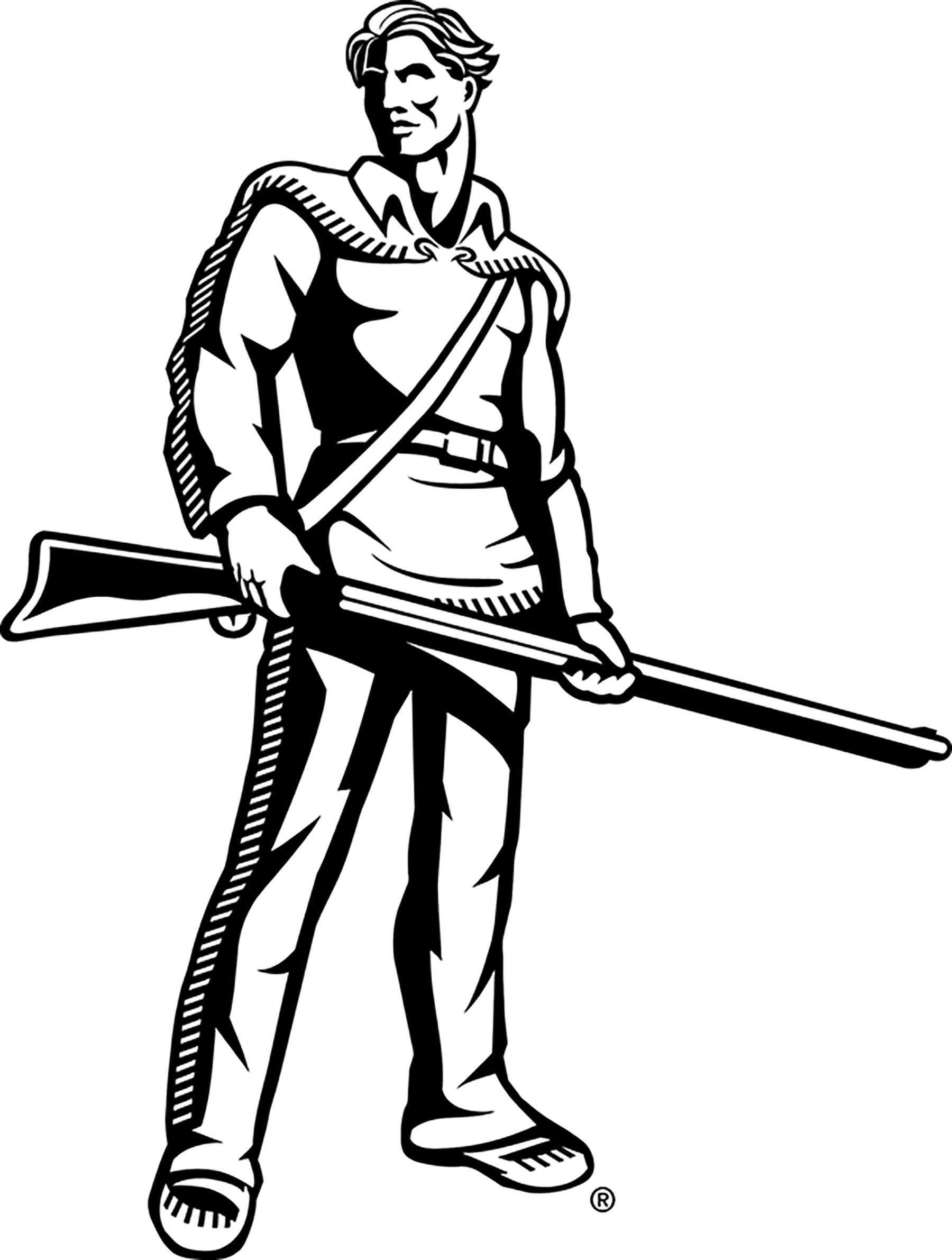 West Virginia Mountaineer Coloring Pages Sketch Coloring Page