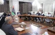 رئيس المجلس الرئاسي يلتقي وفداً من مدينة العجيلات