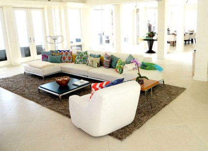 photo of interior of Malibu Beach House