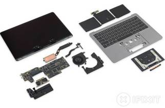 ifixit完成入門款無Touch Bar新13.3吋MacBook Pro拆解