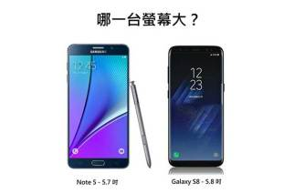 蛤?三星S8的5.8吋螢幕其實比Note 5的5.7吋還小!原來手機螢幕尺寸是這樣算的 @LPComment 科技生活雜談