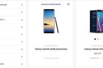 美國三星官網Note 8網頁疑似意外曝光!產品外型與部分特色確認