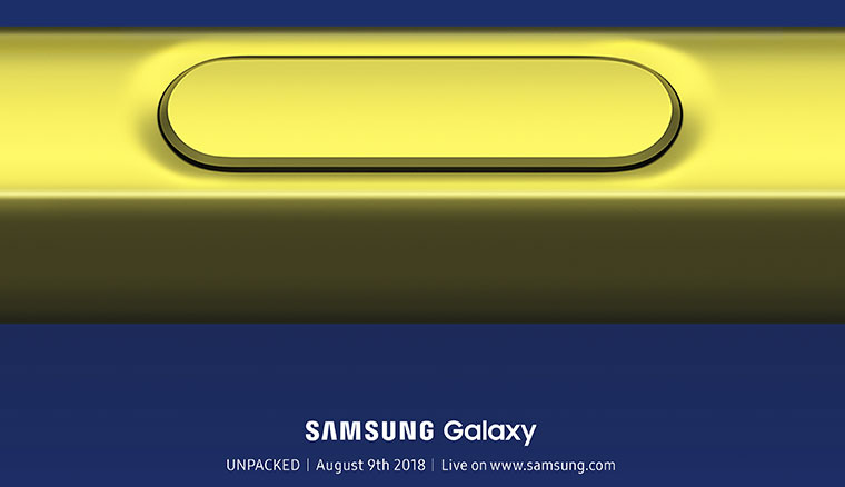 三星宣布Samsung Galaxy Note 9將於8/9正式發表