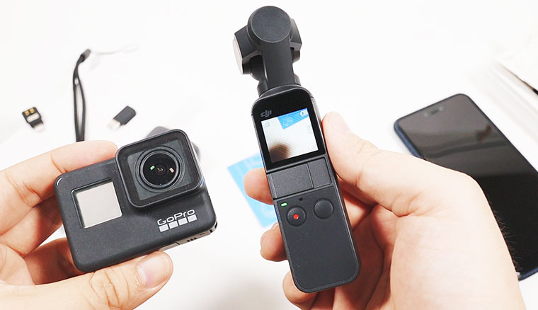 DJI OSMO Pocket開箱!4K60p錄影實測、GoPro Hero7 Black比較