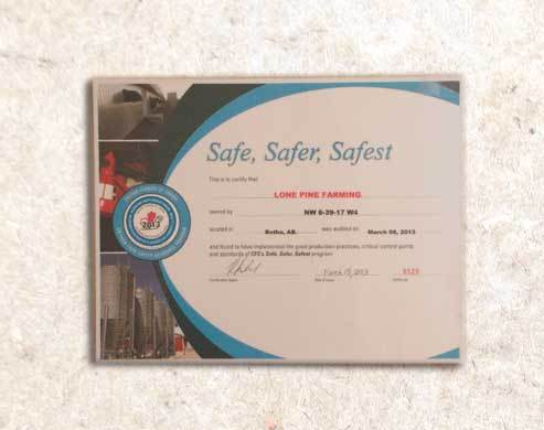 Lone Pine Farm Fresh Chicken - Safety licence