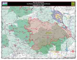 area map sespe wilderness acres burn zoom burns lpfw wildfire than shown archive