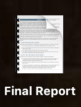 Example picture of a final report (text unreadable to anyone)
