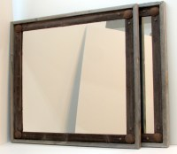 Rustic reclaimed wood mirror frames