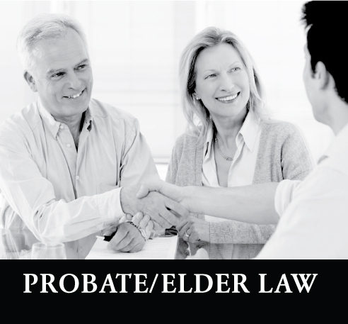 older couple talking with man about probate case