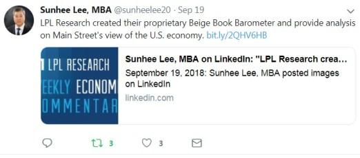 Sunchee Lee LPL Tweet