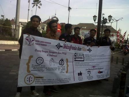 Dukungan: sosialisasi yang dilakukan ILMPI untuk penderita Skizofrenia.