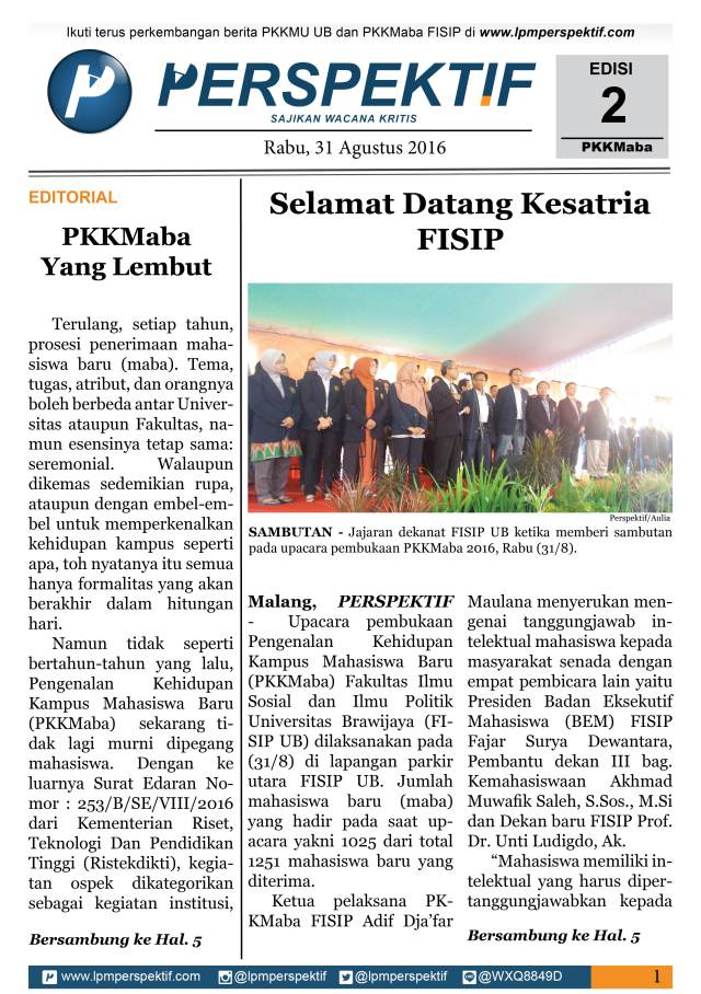 Book Cover: Buletin Maba Tahun 2016 Edisi 2