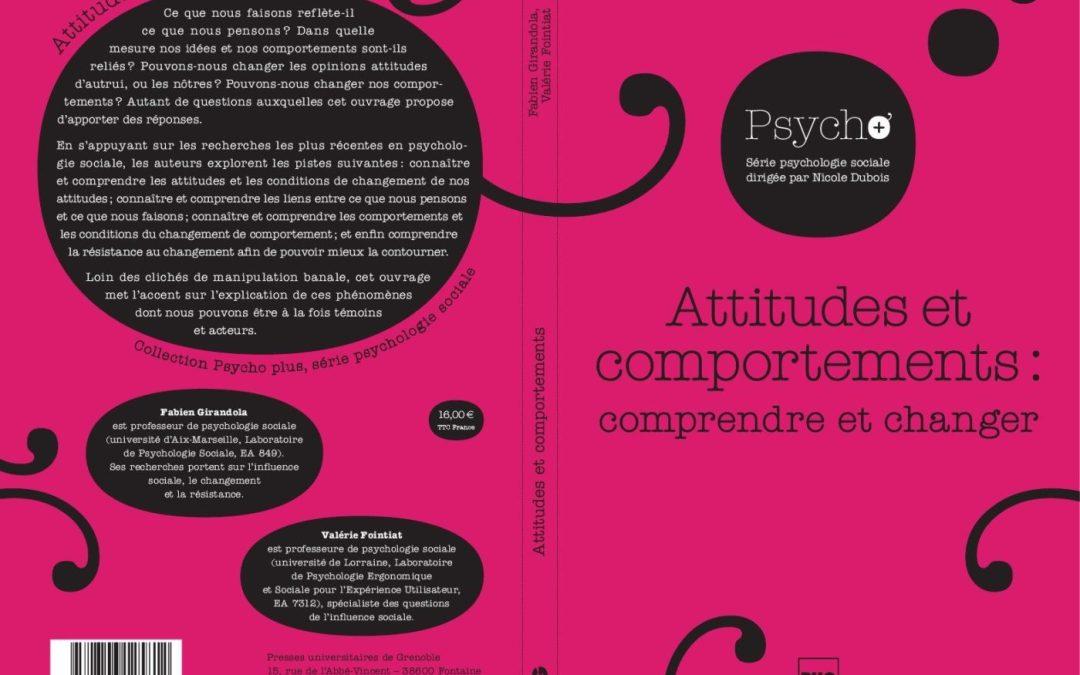 """""""Attitudes et comportements : comprendre et changer"""""""