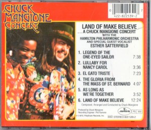 Chuck Mangione Land Of Make Believe CD Back Cover