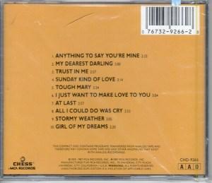 Etta James At Last CD Back Cover